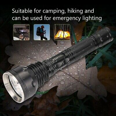 Aluminum Alloy High Power LED Flashlight Adjustable Outdoor Camping Torch Lamp