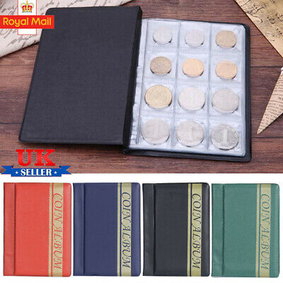 120 Album Coin Penny Money Storage Book Case Folder Holder Collection 2Style UK