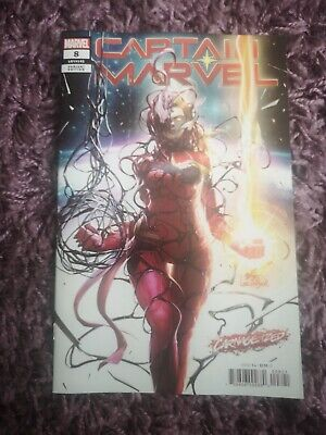 CAPTAIN MARVEL #8 InHyuk Lee CarnageIzed VIRGIN VARIANT Marvel 1st Appearance.