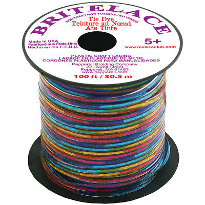 """Pepperell RBS33-5012 Rexlace Plastic Lacing .0938""""X33yd-Lace Tie Dye (6Pk)"""