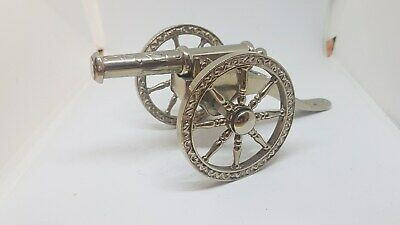 Vintage Silver plated decrative canon  - quality item