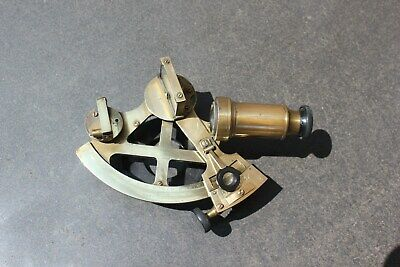 rare marine antique sextant made by cary london rond 1910 factory number  3560
