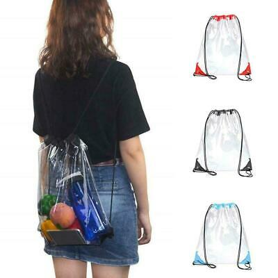 Thick PVC Clear Transparent Shoes Bag Travel Storage Pouch Drawstring Bags V7W7