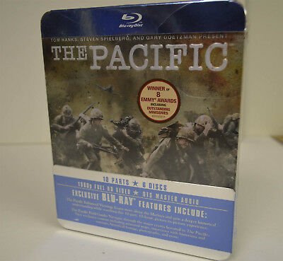 THE PACIFIC Blu-ray New Sealed exclusive features Set 6 Disc WW2 HBO Metal Tin