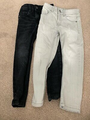 Boys Next Skinny Jeans, Black And Grey, Size 5yrs