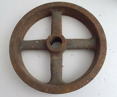 Vintage Cast Iron Pulley Wheel 12 ¼""