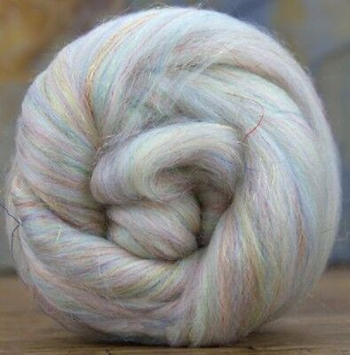 4 Ounces Merino Wool/Nylon Combed Top/Roving - Opal Sparkle ** FREE SHIPPING **