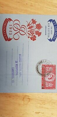 BAHRAIN 1953 Air letter used to Scotland