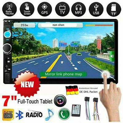 """7"""" Doppel Autoradio Stereo MP5 Player 2Din Bluetooth USB FM AUX For Android A"""