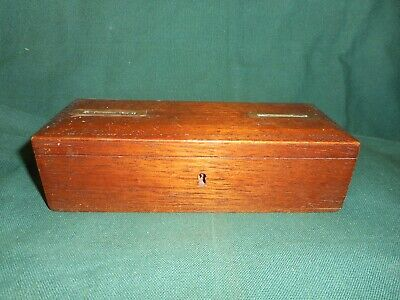 antique / vintage wooden money box