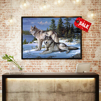 Home Wall Art Painting Joseph Hautman, Wolves HD Print Canvas Decorative 16x20