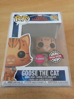 Funko Pop! Captain Marvel #426 GOOSE THE CAT Flocked Special Edition