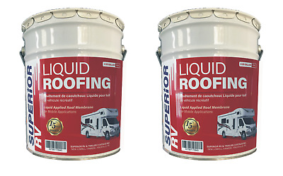 RV Motorhome Rubber Roof Coating 8 Gal. Thermoplastic 15 Year Guarantee