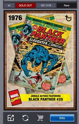 Topps Marvel Collect Digital Archive Week 3 Black Panther #20