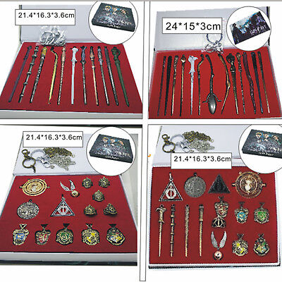 11PCS/Set Harry Potter Hermione Dumbledore Sirius Badge Magic Wand Gifts Collect