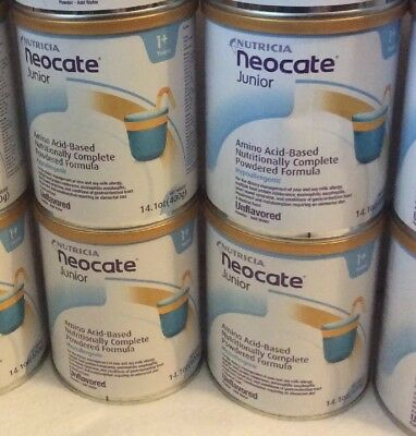 4 Cans Of Nutricia Neocate Junior Jr Formula Unflavored Exp 2020 FREE SHIPPING