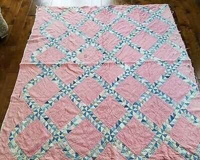 Vintage Primitive Style Feedsack Fabric CUTTER Quilt