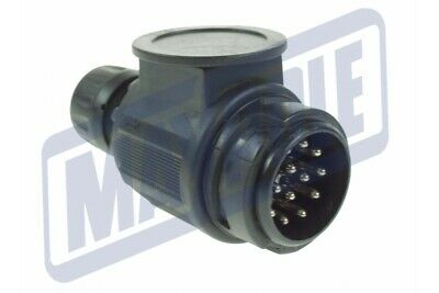 13 Pin Conversion Plug With 2 Holes For Caravans With 2 Towing Cables Mp124B