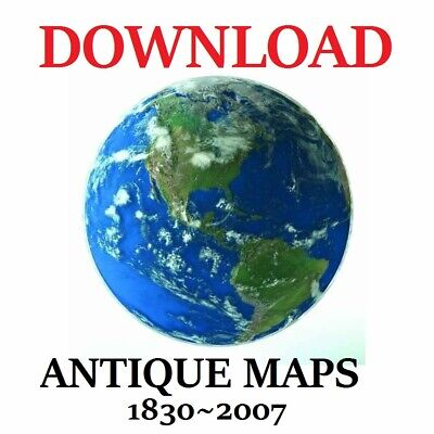 Large Collection Of Antique Maps 1830~2007 On Download