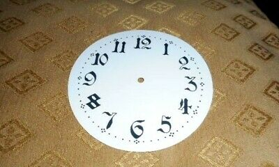 "Round Paper Clock Dial - 5 1/4"" M/T - Ornate Arabic - GLOSS WHITE- Spares/Parts"