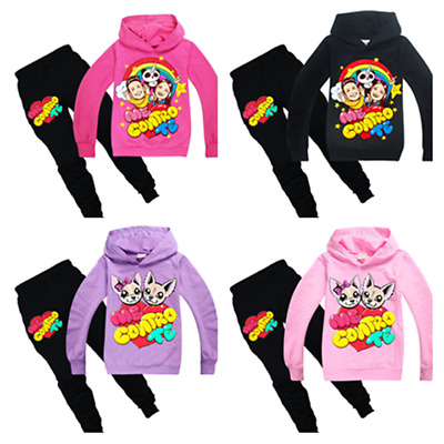 Me Contro Te Kids Boys Girls Cosplay Casual Hoodie Sweatshirt+Trousers Sets UK