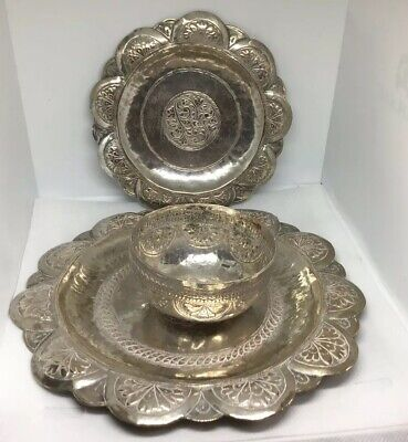 Three Pieces Of Antique Indian Silver