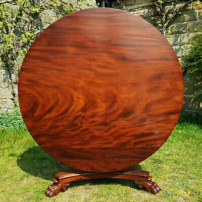 William IV Mahogany Tilt Top Breakfast Dining Table C1830 (Antique)