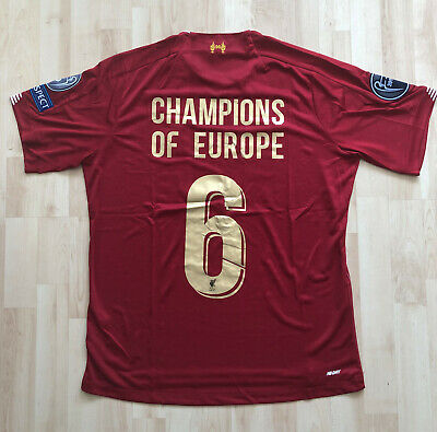 Liverpool Football Shirt 2019 2020 - Champions Of Europe - L - New With Tags