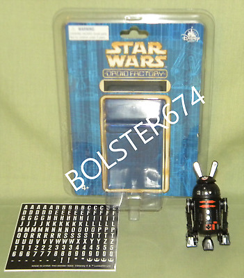 R2-Q5 BLACK & ORANGE ASTROMECH Disney Parks Star Wars Droid Factory BAD Custom