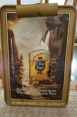 Vintage Heileman's Old Style Beer Lighted Sign -- Works