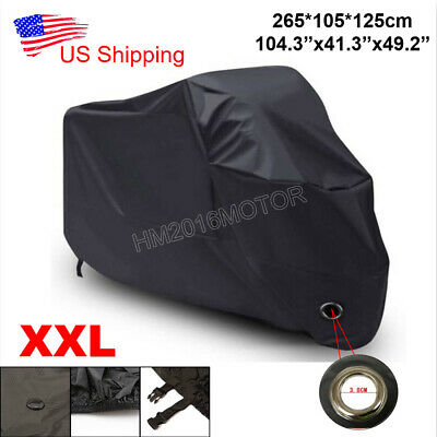 2XL Waterproof Motorcycle Cover Lock Hole For Honda Shadow Spirit VT 1100 750 US
