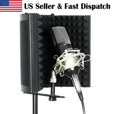 Compact Studio Microphone Isolation Shield With Sound Portable Vocal Booth
