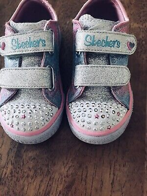 Skechers Toddler Girls Size 7 Twinkle Toes Sneakers Sparkly And Sweet EUC