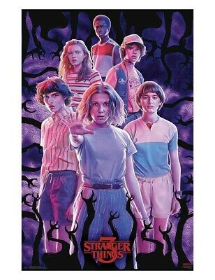 Stranger Things Group Season 3 Poster 23 x 35 Kids Eleven Mike Dustin Max Will