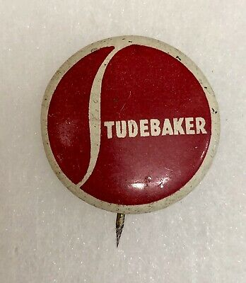 Vintage STUDEBAKER Auto Car Dealership Metal Advertising Promotional Button Pin