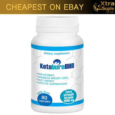 KETO Burn BHB Advanced Weight Loss 80 Caps Ketosis Keto Diet Fat Carb Purefit