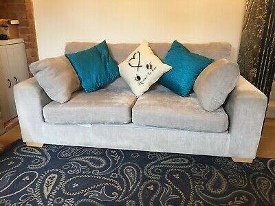 Bed settee/sofa bed Silver colour 2 seater