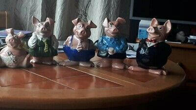 Natwest Pigs Full Set Piggy Banks Made By Wade England All With Natwest Stoppers