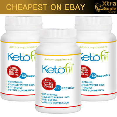 3x KETO Fit Advanced Weight Loss 60 Caps Ketosis Diet Fat Burn & Carb Purefit