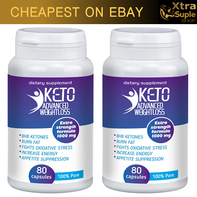 2x KETO Advanced Weight Loss 80 Caps Ketosis Keto Diet Fat Burn & Carb Purefit