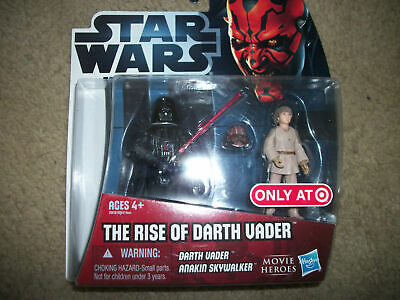 Star Wars The Rise of Darth Vader Two-pack Target Exclusive 'Movie Heroes'Sealed