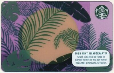 Hungary Starbucks Card Tropical Forest Mint Unused