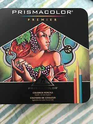 Prismacolor Premier Colored Pencils, Soft Core, 72 Count - Gently Used