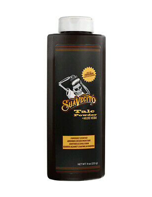 Suavecito Talc Powder Barber Barbershop Talcum Powder With Aloe Vera 9oz Bottle