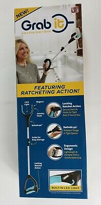 Grab It Grabbing Reaching Pick Up Tool As Seen On TV Featuring Ratcheting Action