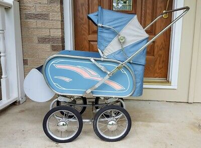 Vintage Antique Siebert Baby Buggy Pram Stroller Carriage Germany 1950s Nice Vtg