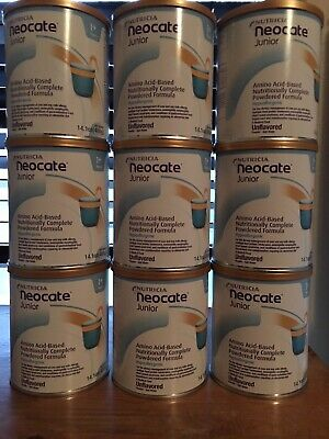 9 sealed Cans Neocate Junior Unflavored- FREE PRIORITY SHIPPING- #A621