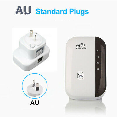 300Mbps WiFi Repeater Wireless Signal Extender Booster AP Range Router AU Plug