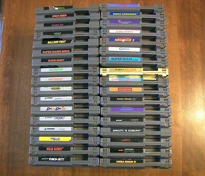38 Nintendo NES games contra, super c, nightmare on elm street, zelda mega man 4