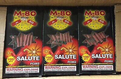 M-80  Firecracker Label   3 Packs Of 100 Labels  Sold Pre eBay Rules